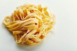Handmade italian tagliatelle pasta
