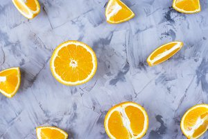 Varied pieces of oranges