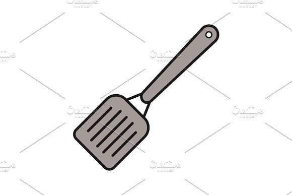 Kitchen Spatula Color Icon