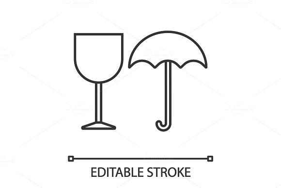 Fragile Linear Icon