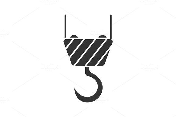 Cargo Crane Hook Glyph Icon