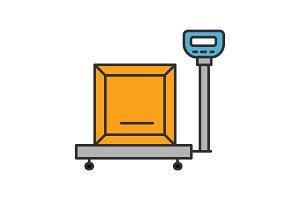 Parcel scales color icon