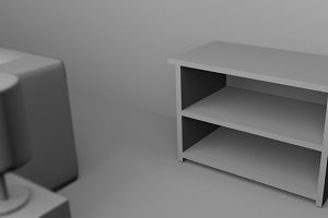 a table 3D rendered