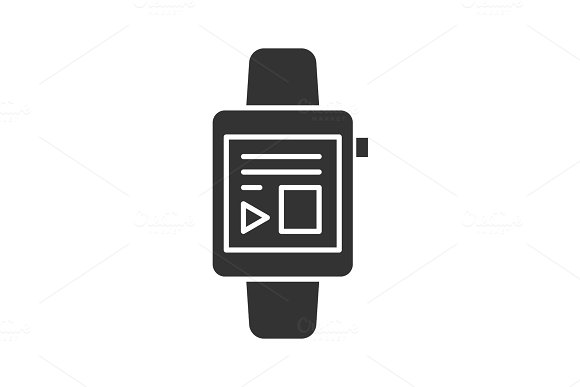 Smartwatch Glyph Icon