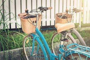 Two retro bikes