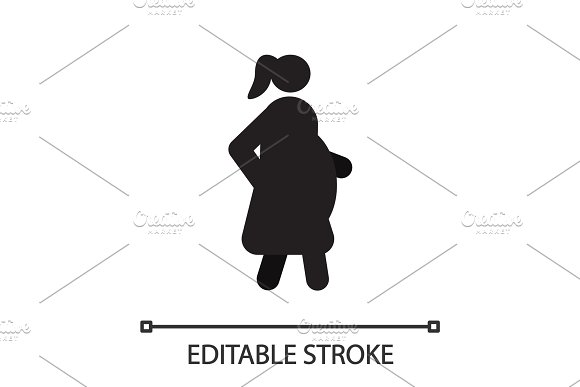 Pregnant Woman In Side View Silhouette