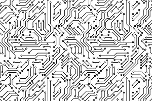 Print circuit board seamless pattern