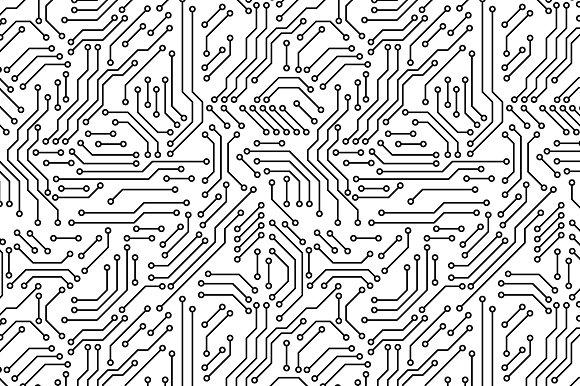 Print Circuit Board Seamless Pattern