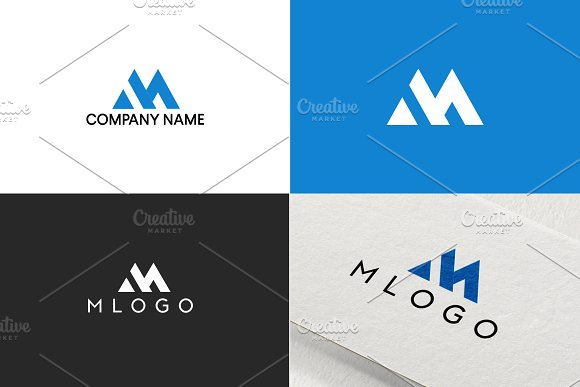 M Logo Design For Business