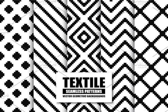 Textile Seamless Patterns.B W Design