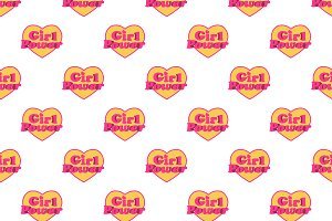 Girl Power Logo Pattern