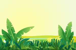 Jungle Plants Landscape Background