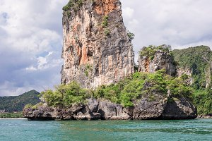 Popular travel tropical karst rocks