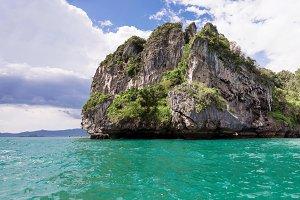 Popular travel tropical karst rocks, Krabi