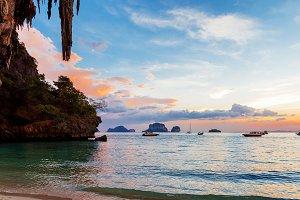 karst rocks perfect climbing Railay Thailand