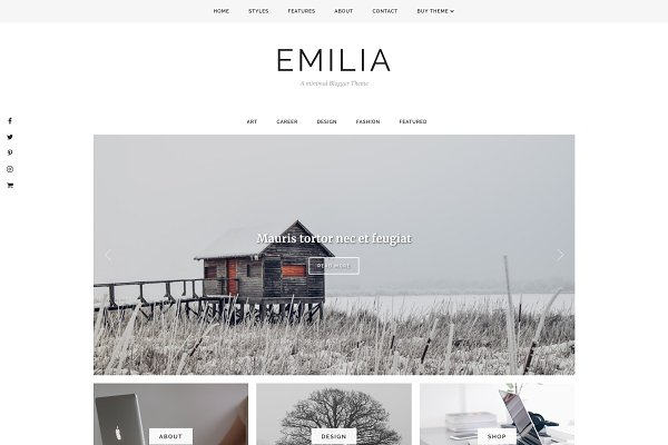 Website Templates: Georgia Lou Studios - Blogger Template Responsive - Emilia