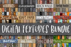 Digital Textures Bundle - 180 Papers