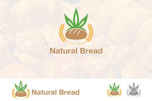 Delicious Natural Bread Meal Logo