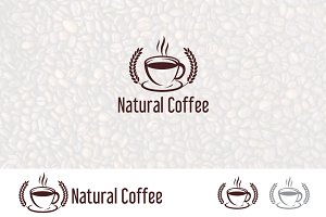 Organic Natural Coffee Cafe Logo