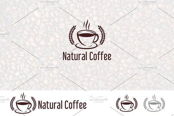 Organic Natural Coffee Cafe Logo