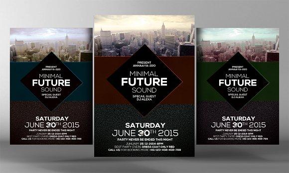 Minimal Future Sound Party Flyer