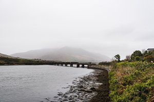 Scenic view of old Valentia River Viaduct in the Wild Atlantic W