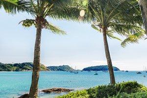 Palms Nai Harn bay beach beach Phuket
