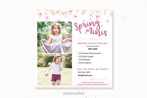 Spring marketing template