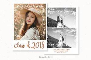 Senior Grad Cards Template