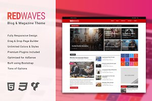 RedWaves - Modern WordPress Theme
