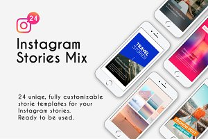 Instagram stories template mix