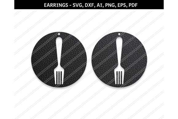 Fork Earring Svg Dxf Ai Eps Png Pdf
