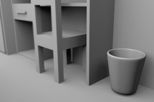 a trash can 3D rendered