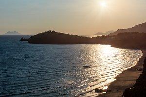 Summer Tyrrhenian sea coast, Italy