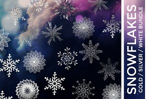 Snowflakes Bundle - Vector Clipart