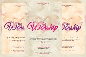 The Heart of Worship Church Flyer