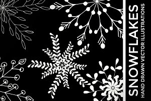 White Vector Snowflake Clipart