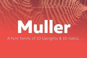 Muller Family - 20 fonts