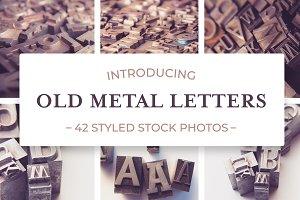 Old Metal Letters Photo Bundle