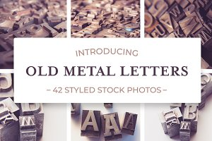 Old Metal Letters Photo Bundle