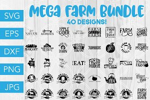 Farm SVG Bundle Cricut Silhouette