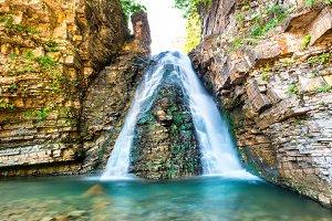 Beautiful high waterfall