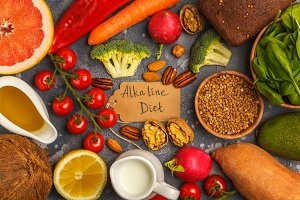 Alkaline diet products