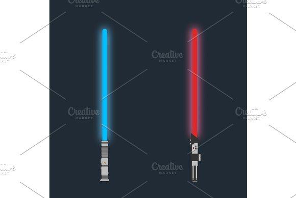 Lightsaber Set Of Futuristic Laser Weapon Sci-fi Light Saber