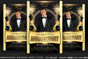 Anniversary Birthday Party Flyer