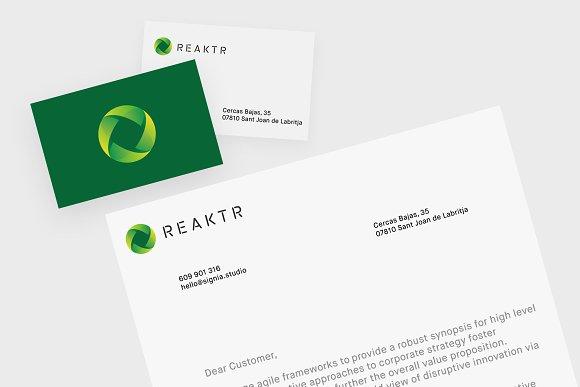 REAKTR Ready-Made Logo