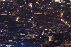 Glowing Paris city in nigh time