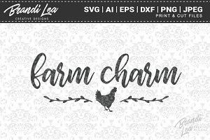 Farm Charm Cut Files