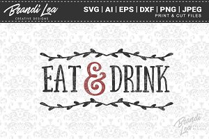 Eat & Drink Cut Files