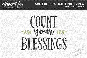 Count Your Blessings Cut Files